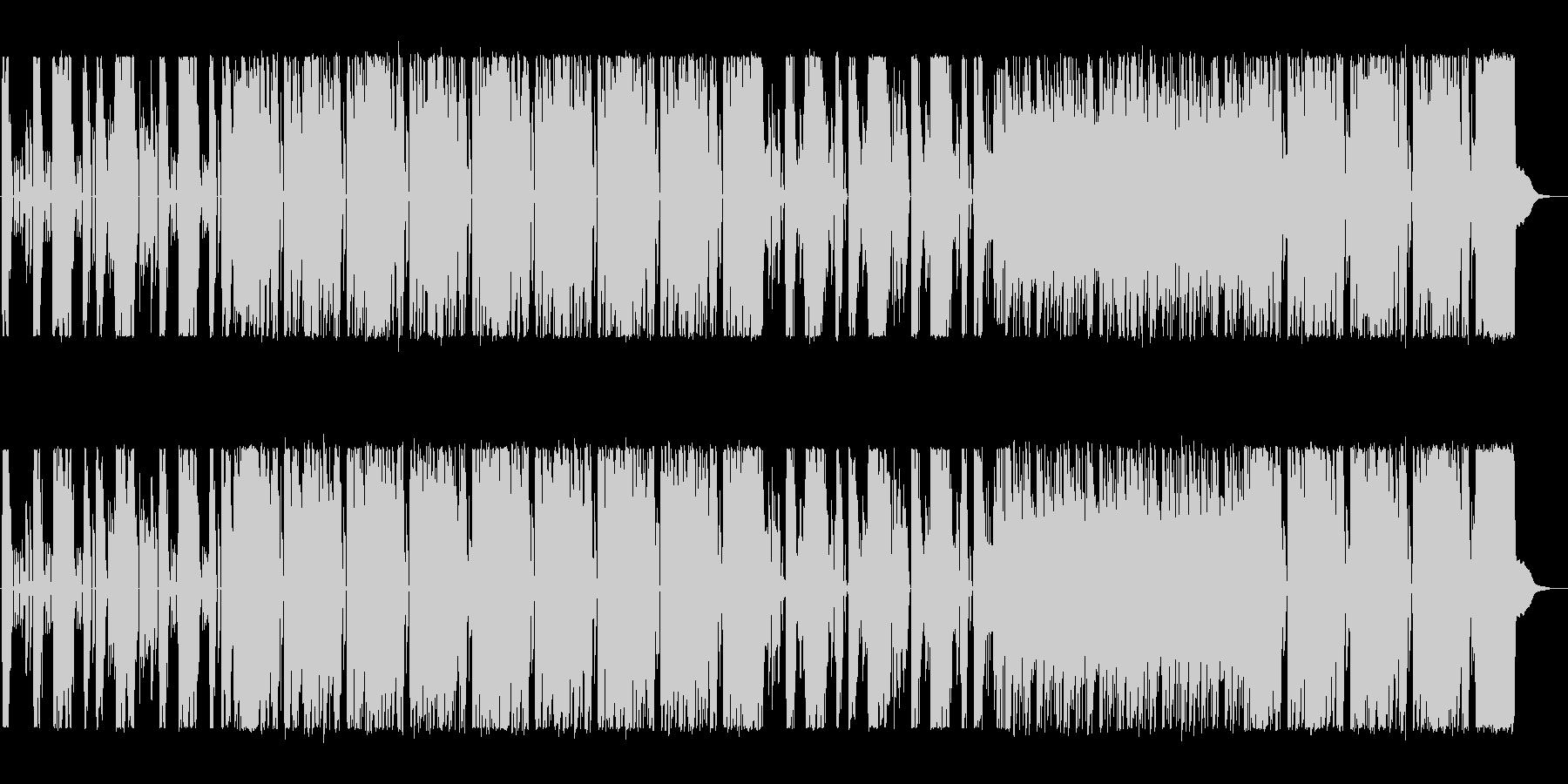 ロックのテクニック満載のサウンドの未再生の波形