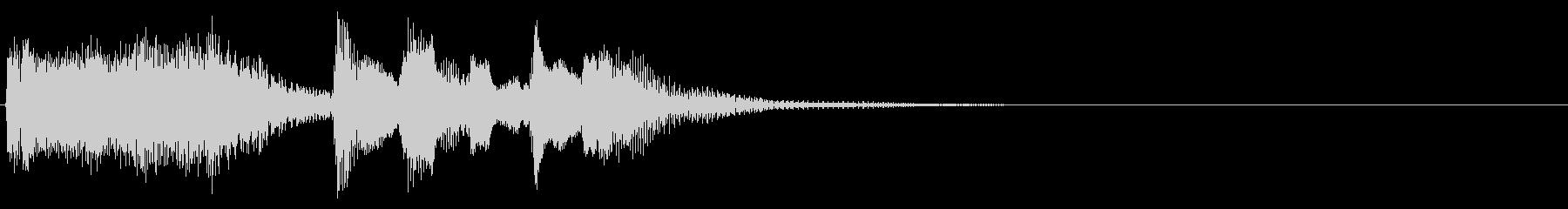 品のある室内楽風のサウンドロゴの未再生の波形