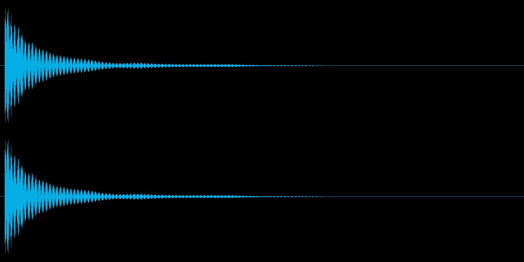 ポョォンーの再生済みの波形