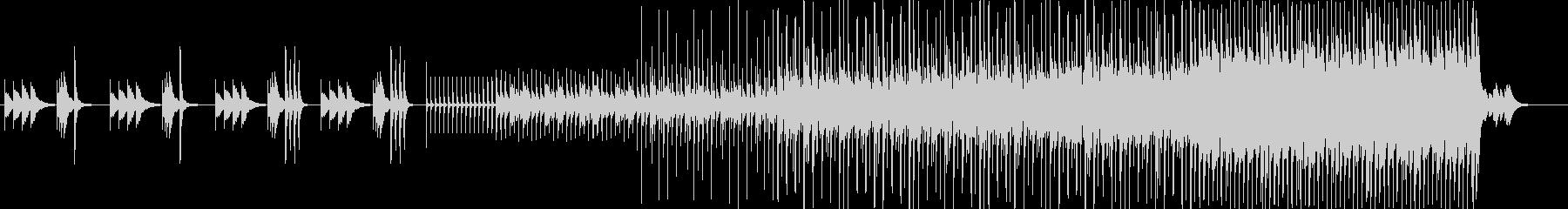 鉄琴で最後は激しいインスト曲の未再生の波形