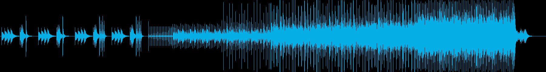 鉄琴で最後は激しいインスト曲の再生済みの波形