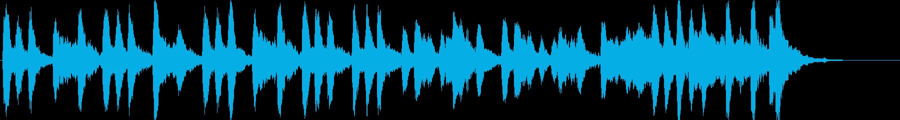 弦とベルのシンプルなBGM。企業VP等にの再生済みの波形