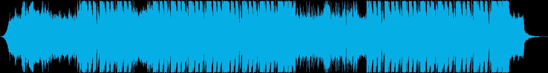 激しくスピード感ギターリフの再生済みの波形