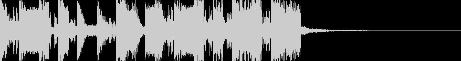 速めなチップチューンなファンファーレの未再生の波形