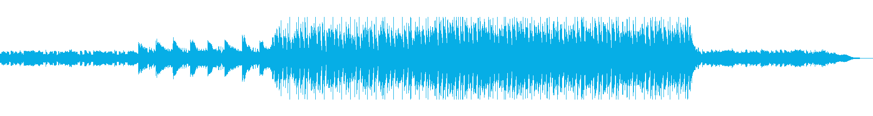 可愛らしく軽快なリズムのテクノの再生済みの波形
