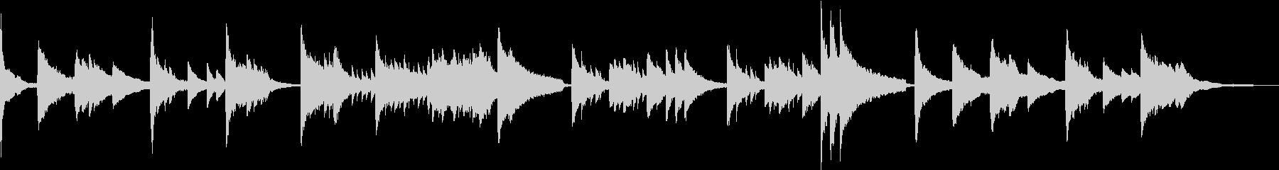 テクスチャー 幻想的・儚いピアノソロの未再生の波形