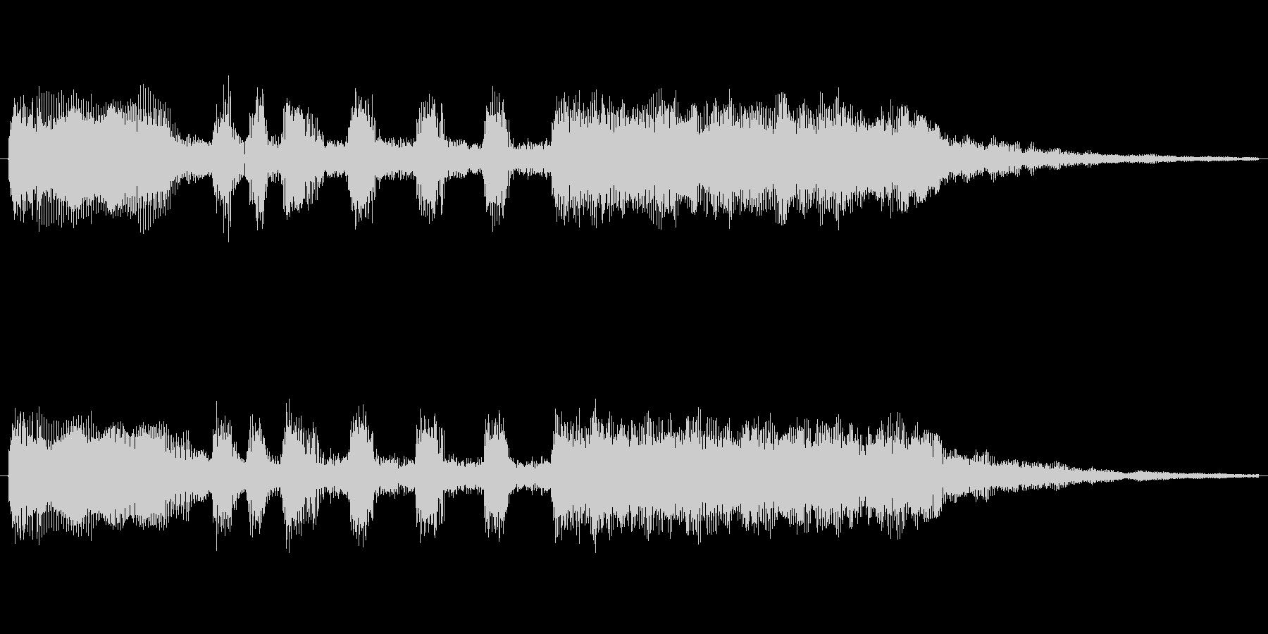 ゲームや、決定音に使えるファンファーレ…の未再生の波形