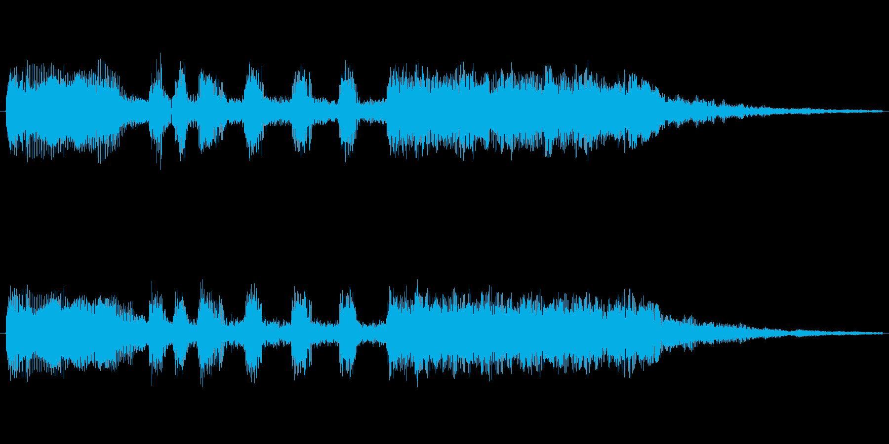 ゲームや、決定音に使えるファンファーレ…の再生済みの波形