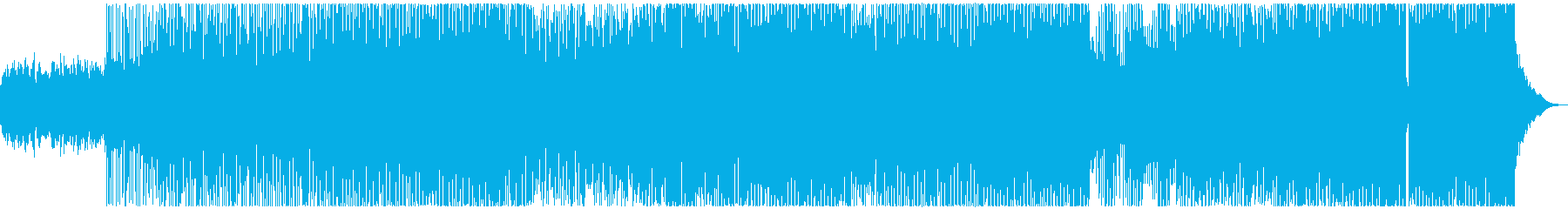 クールでダークな雰囲気のEDMの再生済みの波形