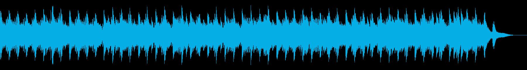 ゆったりとしたピアノソロ曲(6/8拍子)の再生済みの波形