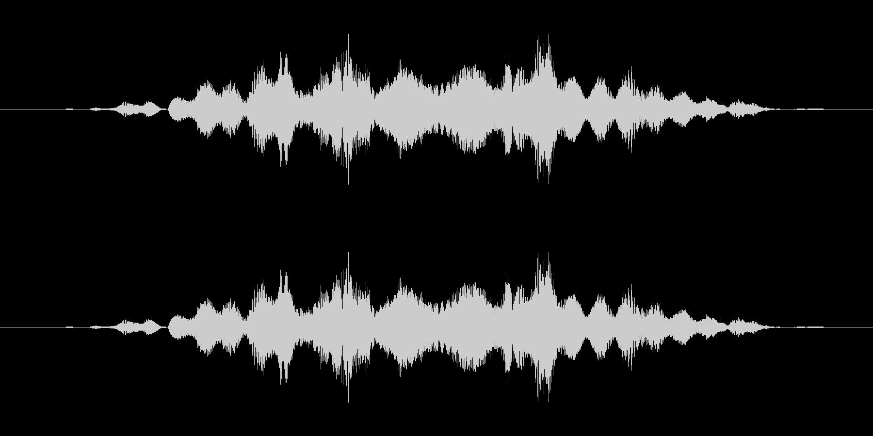 特撮 クレイジー02を確認の未再生の波形