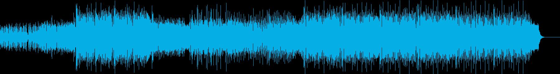 キラキラしたアニメっぽいポップスBGMの再生済みの波形