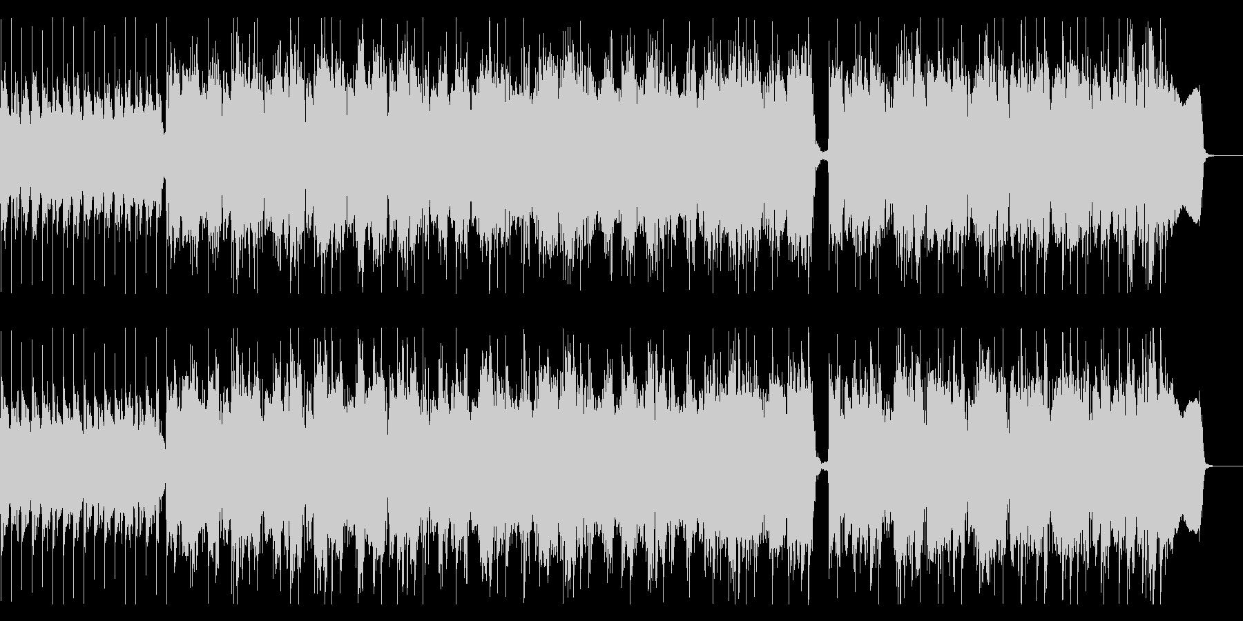 耳に残るリフが特徴のハードロックの未再生の波形