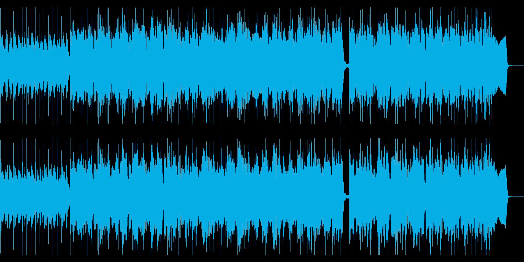 耳に残るリフが特徴のハードロックの再生済みの波形