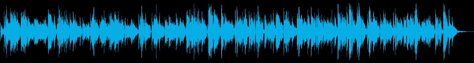 ムードのあるラウンジのサックスジャズの再生済みの波形