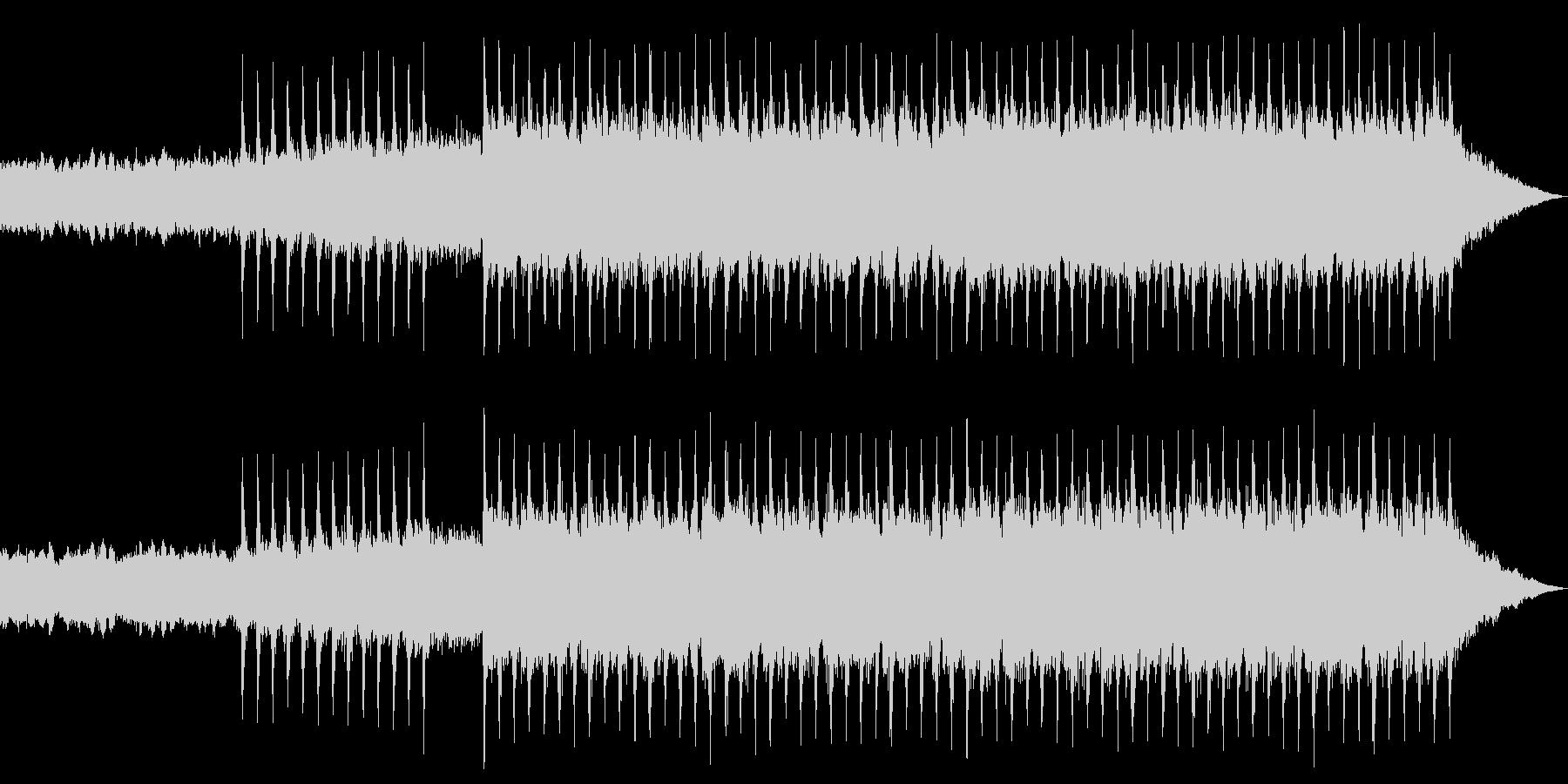 激しいエキサイティングオープニングロックの未再生の波形