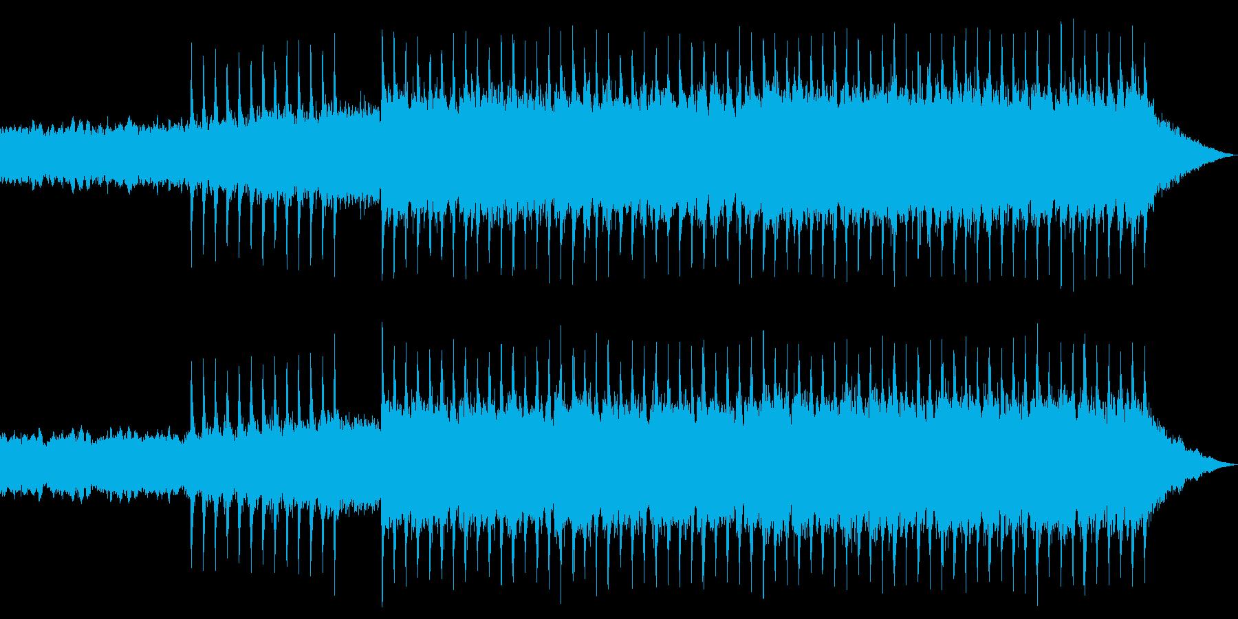 激しいエキサイティングオープニングロックの再生済みの波形