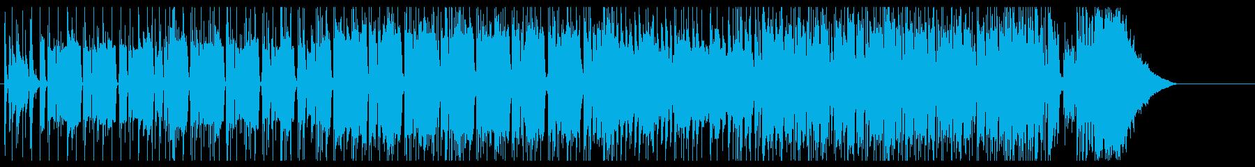 16ビートシャッフルのファンキーインストの再生済みの波形