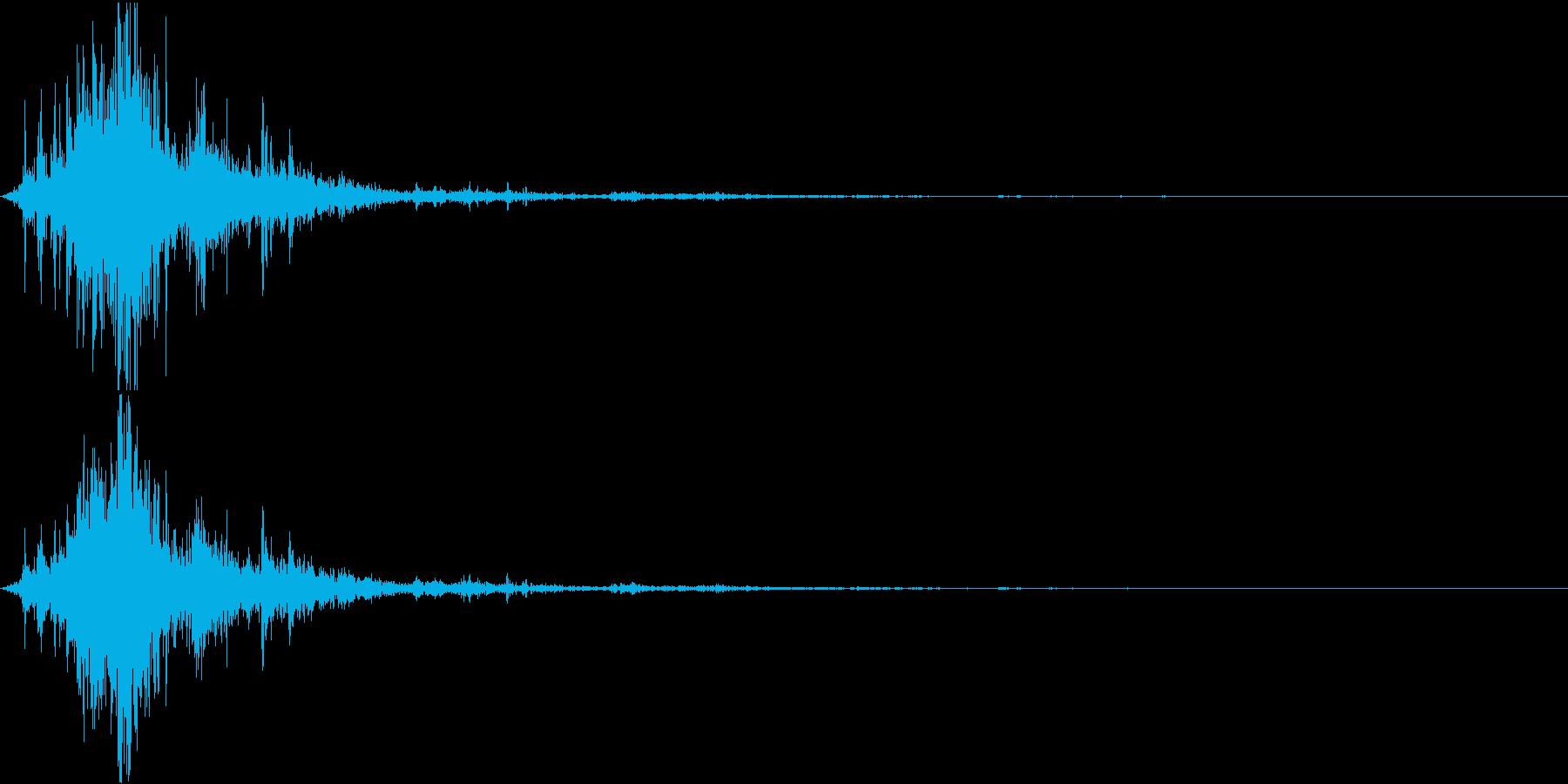 【自然音】カミナリ「ゴロゴロ、ピシャ」の再生済みの波形