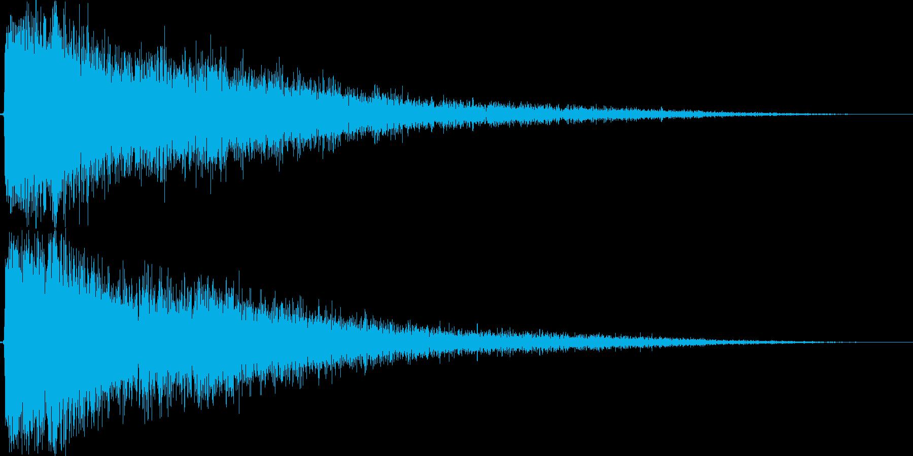 スナイパーライフルの迫力ある銃声! 05の再生済みの波形