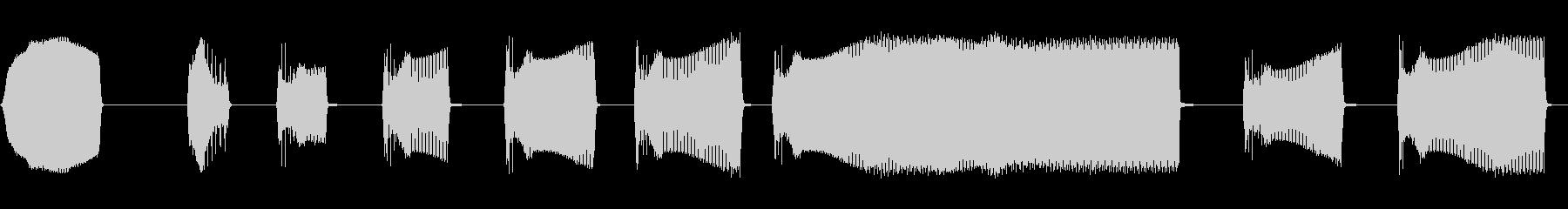 中空IDビープ音の未再生の波形
