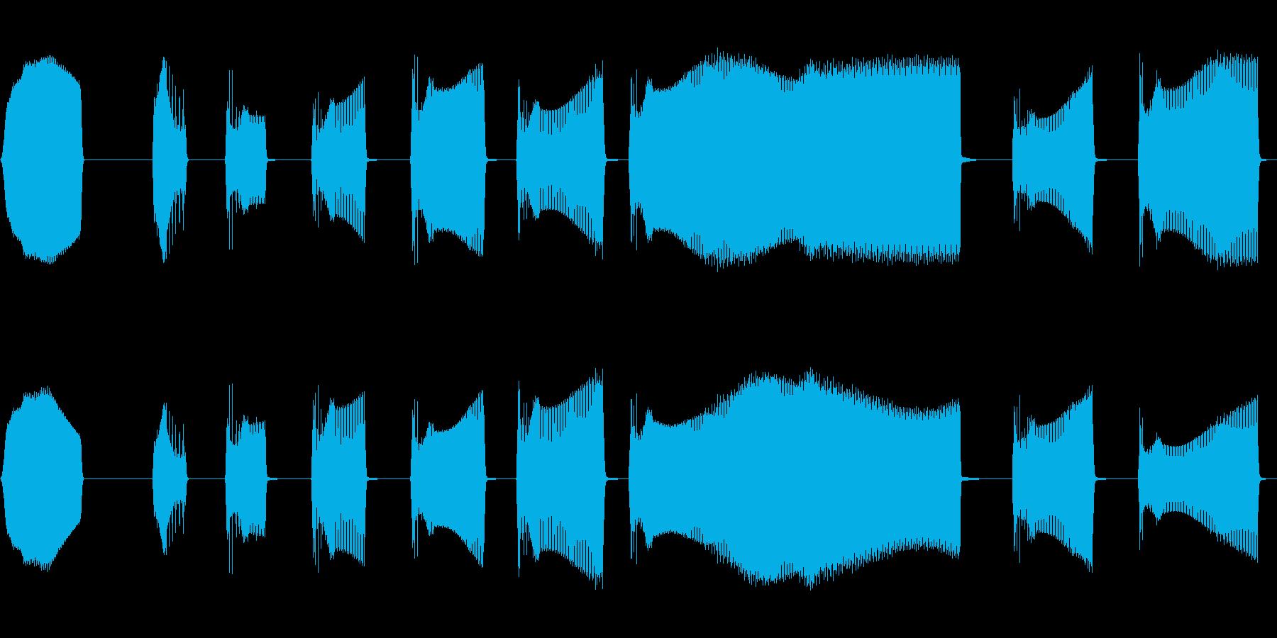 中空IDビープ音の再生済みの波形