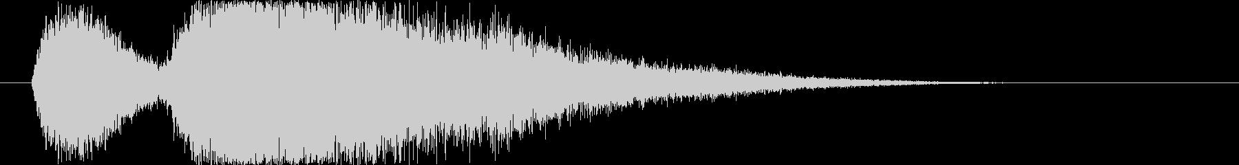 風魔法の音(突風を起こすイメージ)の未再生の波形
