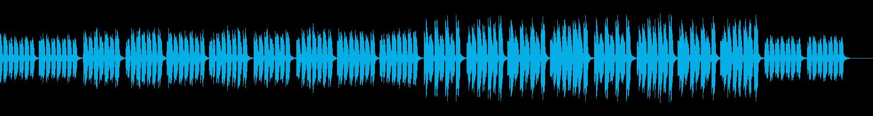 兄弟姉妹達の世間話が聞えるポップ曲の再生済みの波形