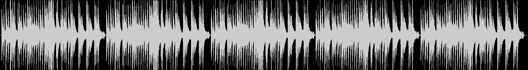 切なく優しいピアノの未再生の波形