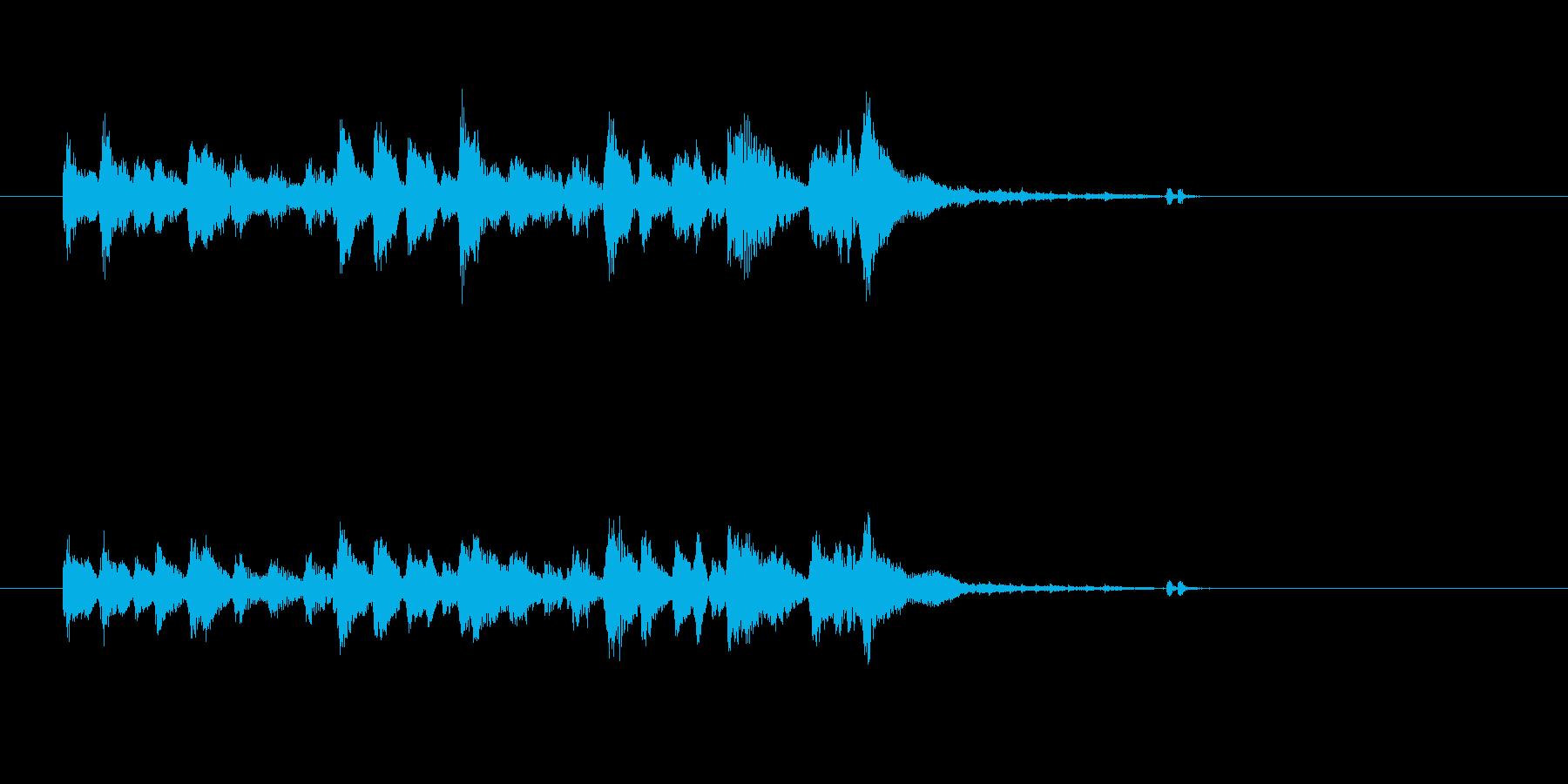 ジャズ シンセサイザー ヴィブラフォンの再生済みの波形