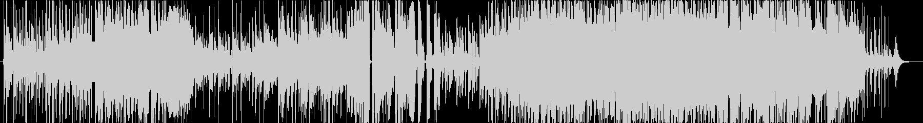 三味線主体の激しくダークな和風ロックの未再生の波形