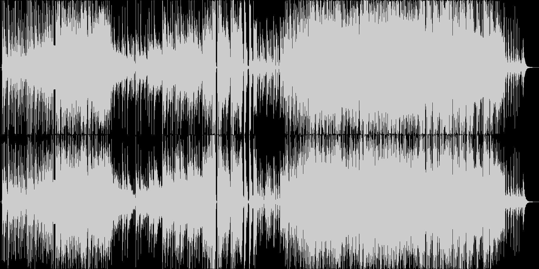 激しくダークな三味線ロックの未再生の波形