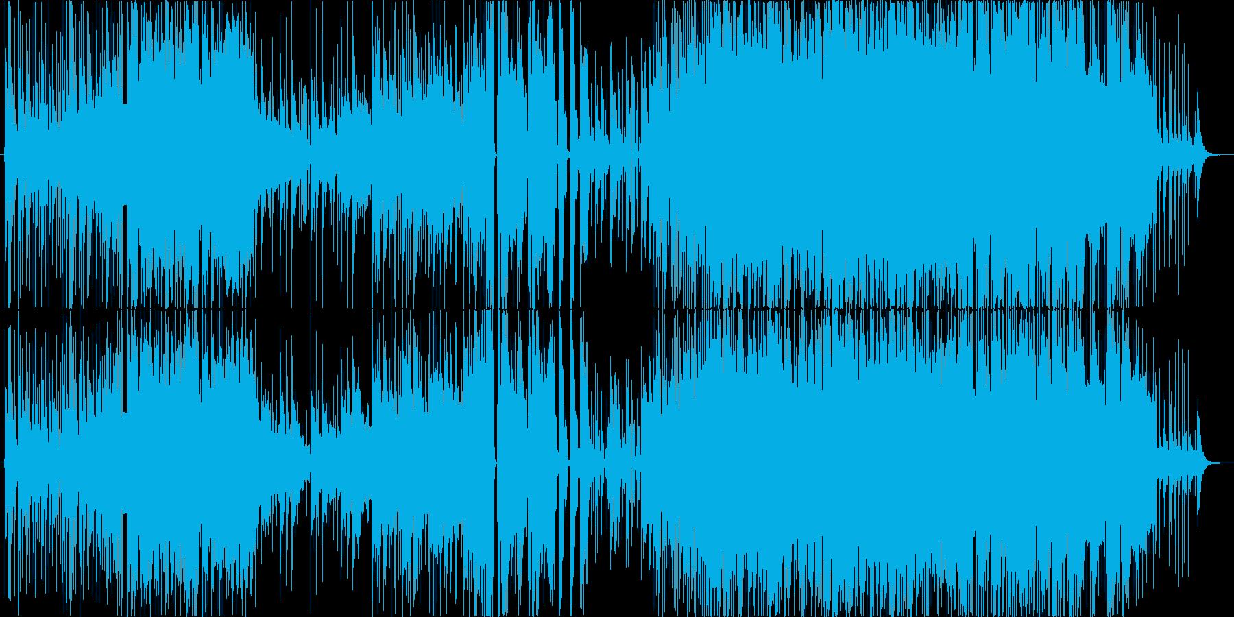 激しくダークな三味線ロックの再生済みの波形