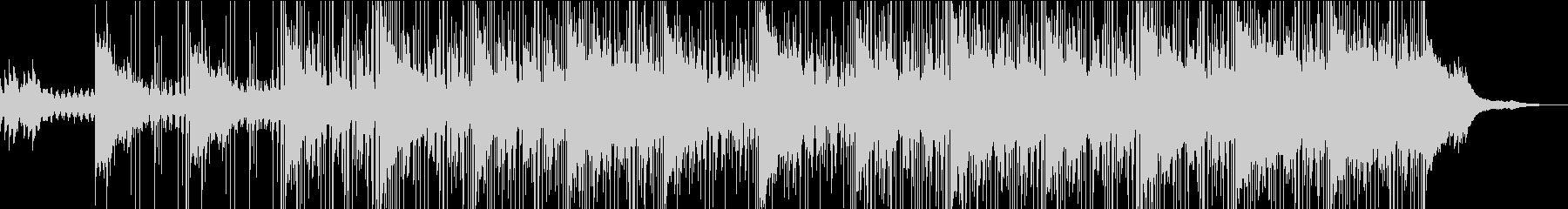 ゆったりとしたクールな映像向けBGMの未再生の波形