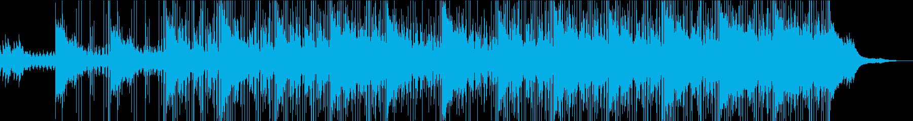 ゆったりとしたクールな映像向けBGMの再生済みの波形