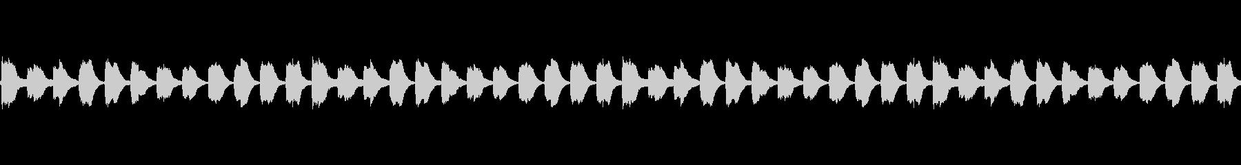 無限に音階の下がるピアノ音(ループ)の未再生の波形