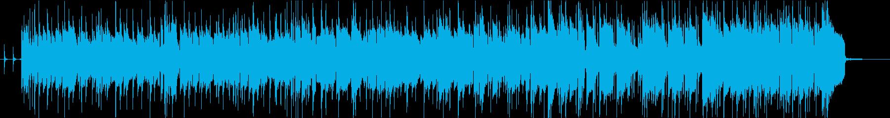 生ベース生ギター・ファンクバンドジングルの再生済みの波形