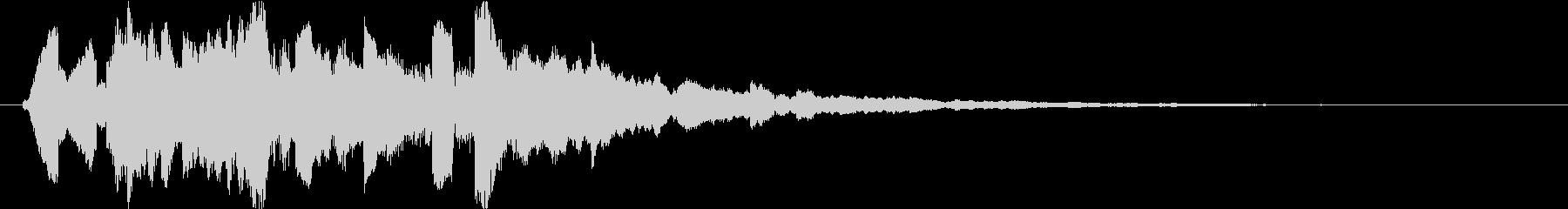 暖い未来的で幻想的なサウンドロゴの未再生の波形