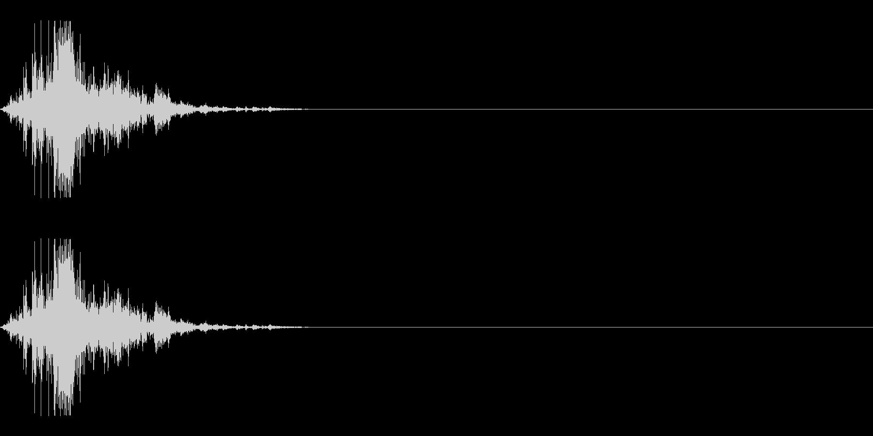 チャリ(ジャリ)の未再生の波形
