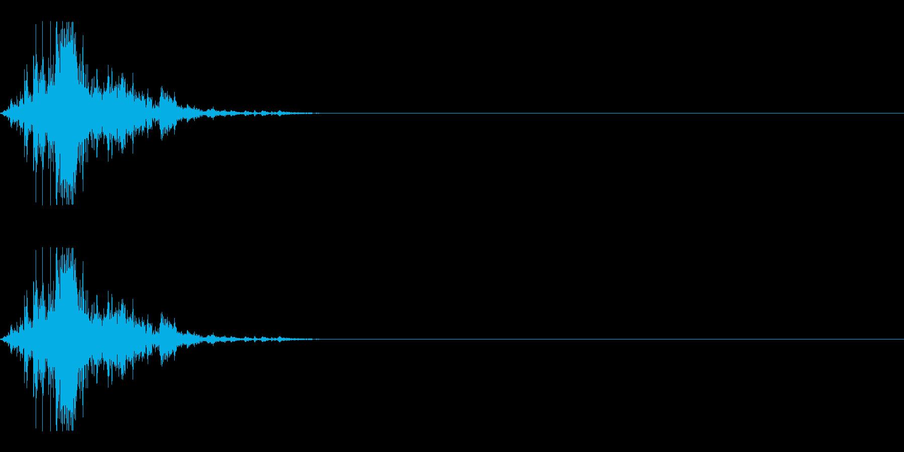チャリ(ジャリ)の再生済みの波形