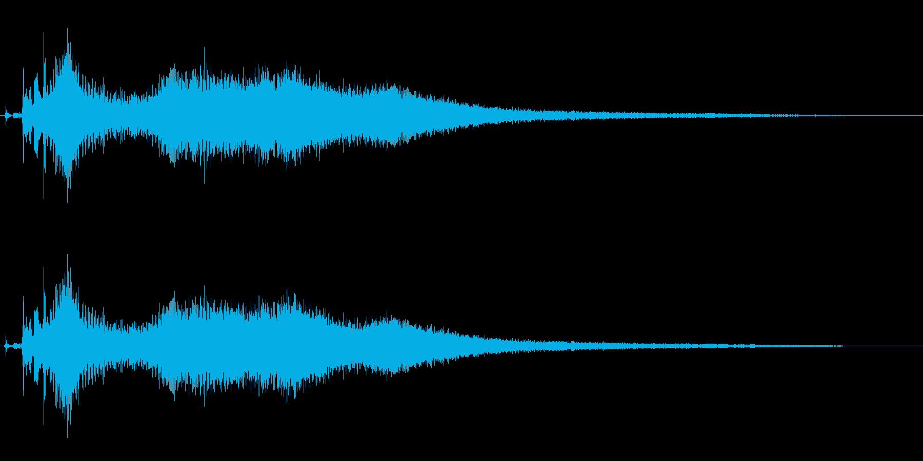 車の出発と後退の再生済みの波形