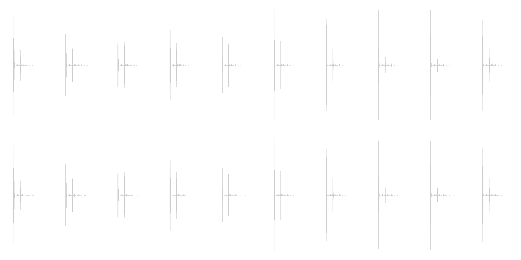 チクタク(時計の秒針の音) 01の未再生の波形