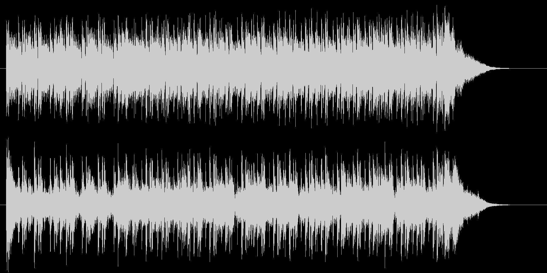 リズミカルで軽快なテクノポップジングルの未再生の波形