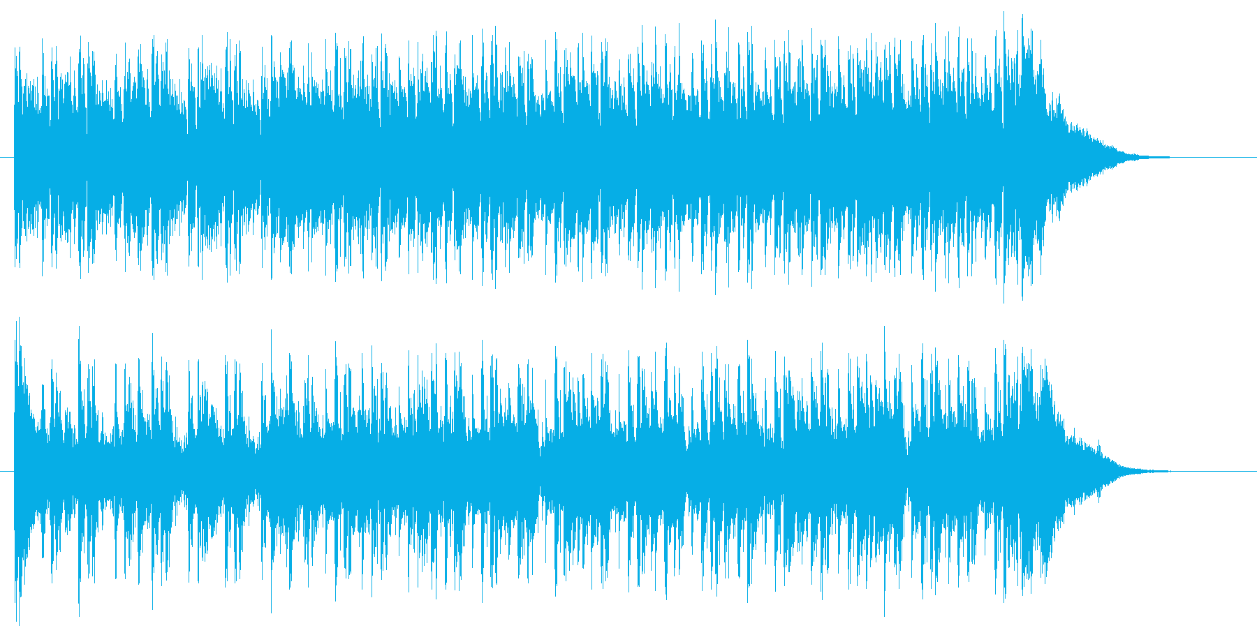 リズミカルで軽快なテクノポップジングルの再生済みの波形