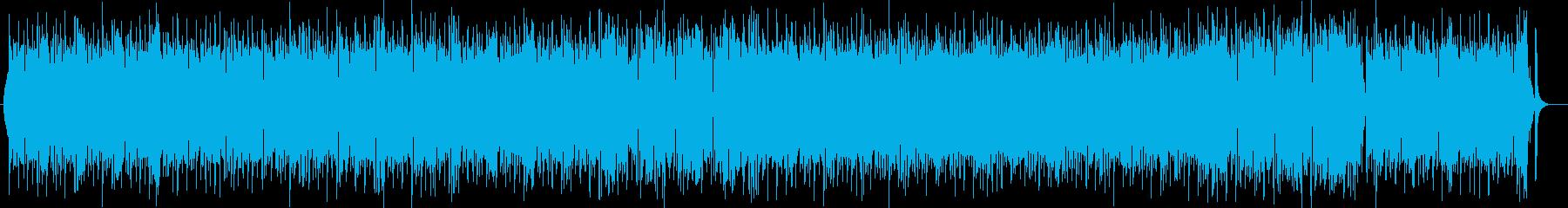 おしゃれなシンセ・ドラムなどのポップ曲の再生済みの波形