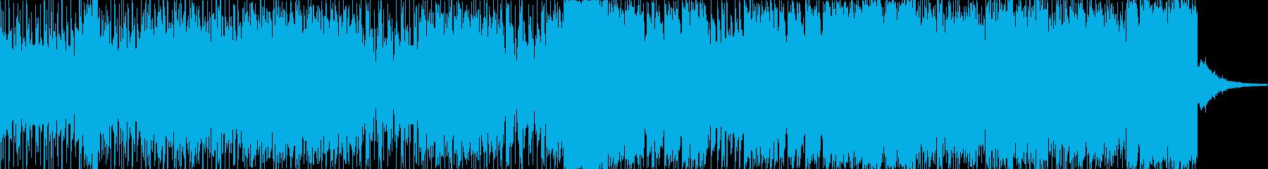 激しいエレクトロダンスミュージックの再生済みの波形