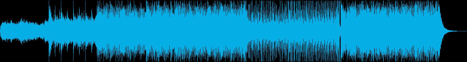 先端技術を表現したBGMの再生済みの波形