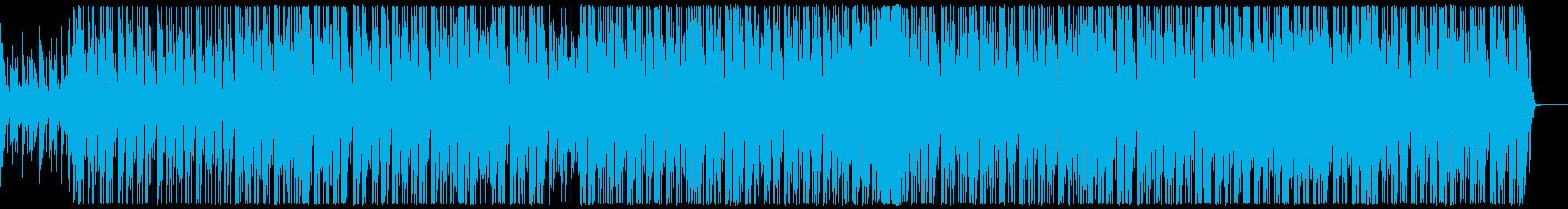 明るいテクノポップの再生済みの波形