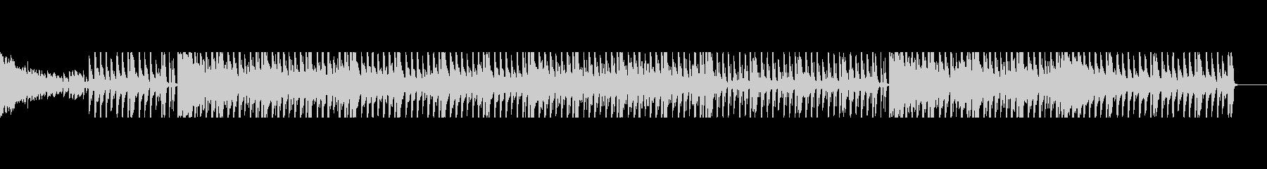 【パターン2】明るく元気なテクノポップの未再生の波形