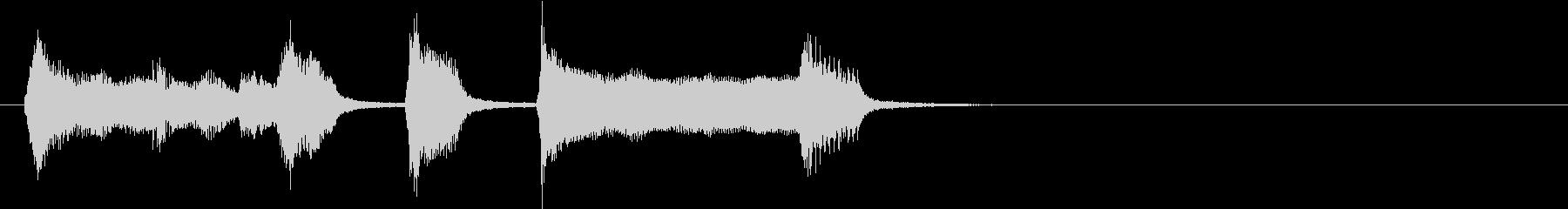 かわいくてチープなファンファーレの未再生の波形